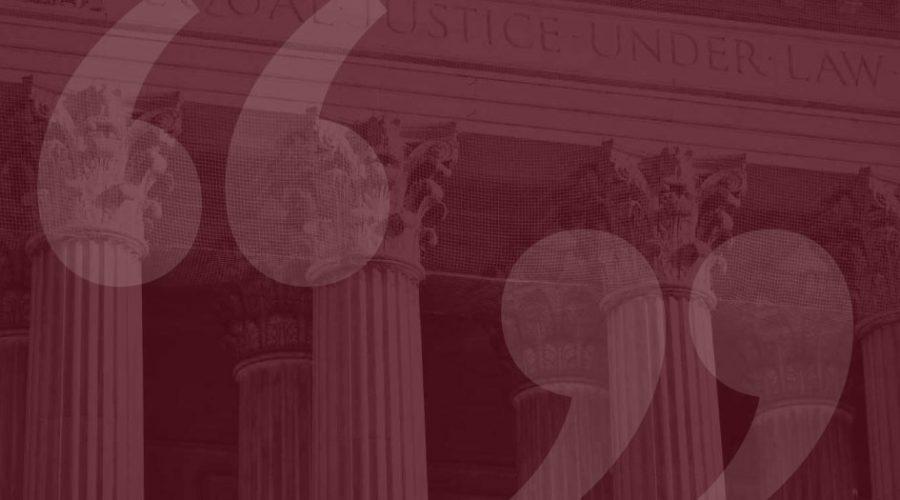 Pillars of a criminal justice building