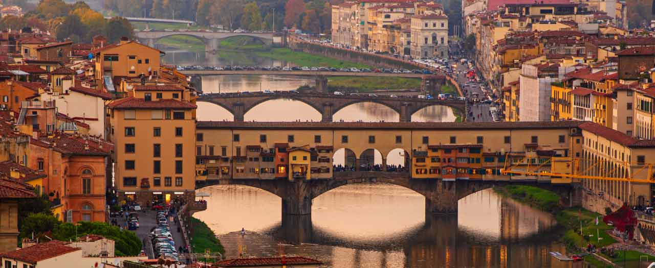 Florence, Italy in the evening