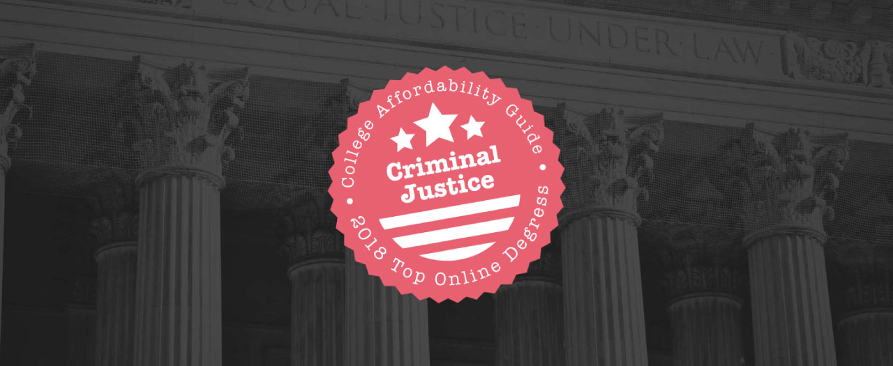 Top Online Criminal Justice Degrees Badge