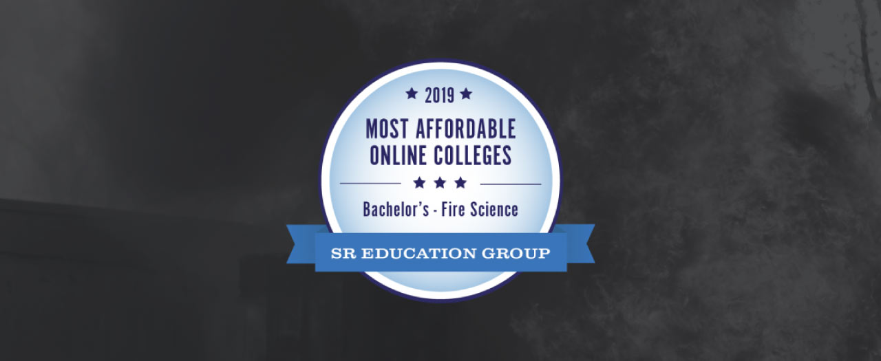 Most Affordable Online Colleges - Bachelor in Fire Science Badge
