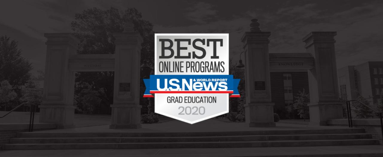US News Best Online Program badge