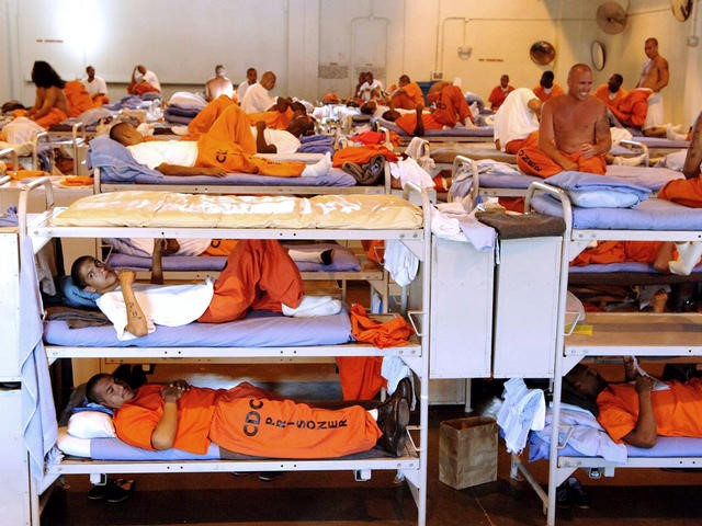 Crowded correctional facility