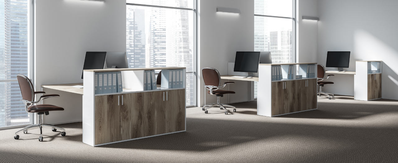 paralegal office desk setting