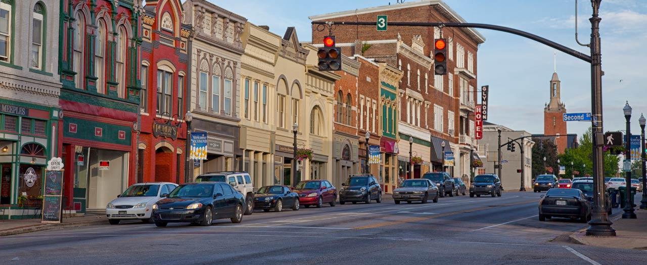 public administration downtown scene